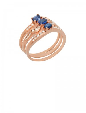 0.74ct Blue Sapphire 9K Gold Ring