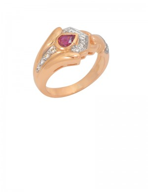 0.44ct Ruby 18K Gold Ring