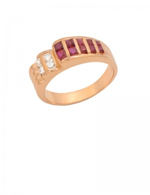 0.66ct Ruby 18K Gold Ring