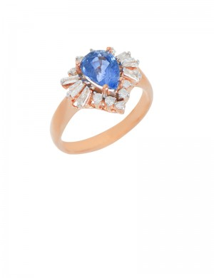 1.75ct Blue Sapphire 18K Gold Ring