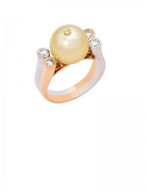 11.5 South Sea Pearl in 18K Gold Ring