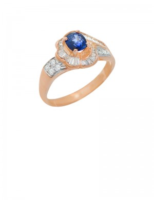 0.73ct Blue Sapphire 18K Gold Ring