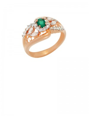0.30ct Emerald 18K Gold Ring