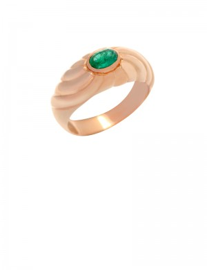 0.41ct Emerald 18K Gold Ring