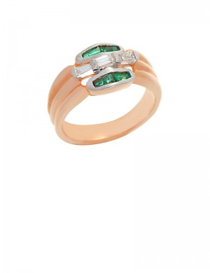 0.76ct Emerald 18K Gold Ring