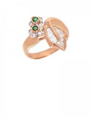 0.11ct Emerald 18K Gold Ring