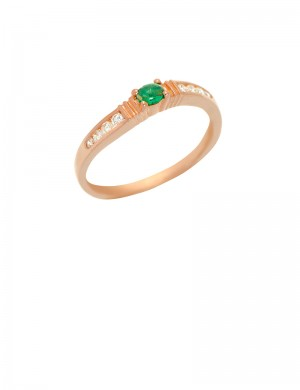 0.20ct Emerald 18K Gold Ring