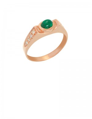 0.45ct Emerald Diamond 18K Gold Ring