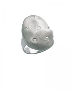 0.28ct Diamond 18K White Gold Ring