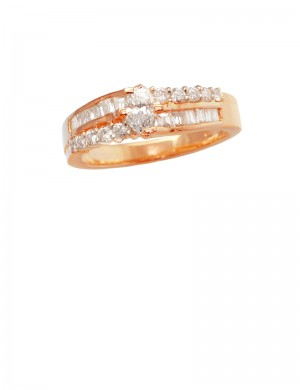 0.46ct Diamond 18K Yellow Gold Ring