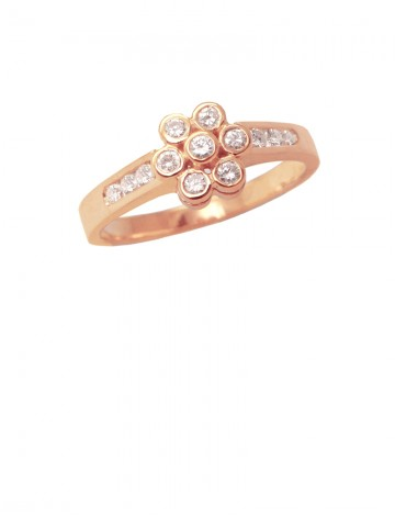 0.43ct Diamond 18K Yellow Gold Ring