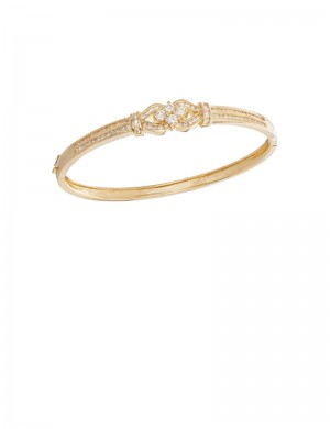 1.04ct Diamond 20K Gold Bangle