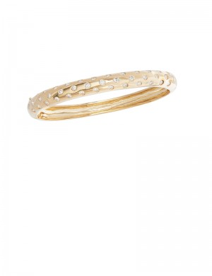 1.37ct Diamond 18K Gold Bangle