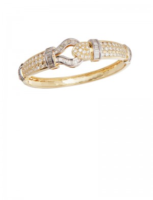 6.20ct Diamond 18K Gold Bangle