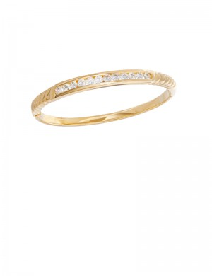 1.36ct Diamond 18K Gold Bangle