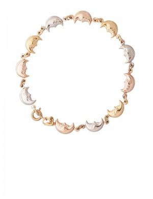 7.03gram 18K Italian Tri Color Gold Bracelet