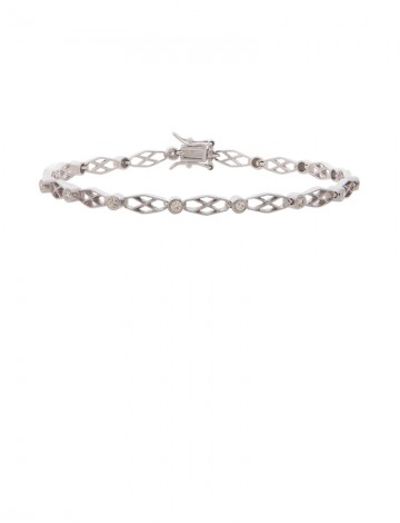 bracelet diamond full silver sterling skull en