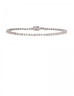 1.23ct Diamond 18K White Gold Bracelet