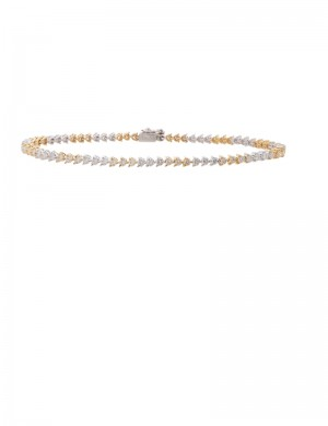 0.90ct Diamond 18K White & Yellow Gold Bracelet