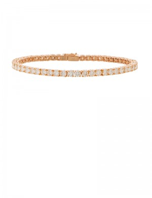 6.12ct Diamond 18K Gold Tennis bracelet