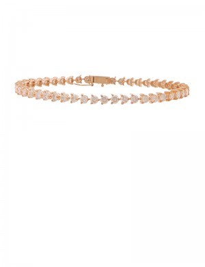 4.23ct Diamond 18K Gold Bracelet