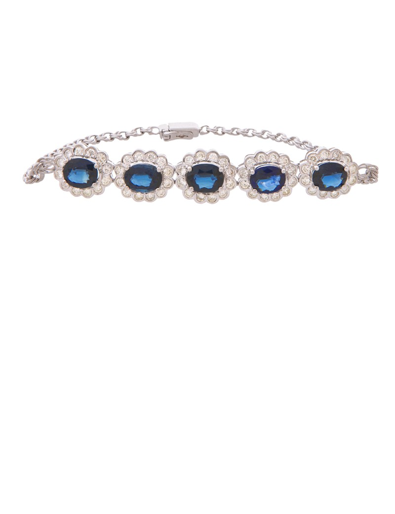 sapphire cluster diamonds bracelet a with upon diamond products white bangle in gold once