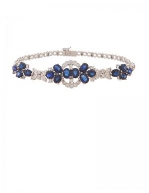 9.67ct Blue Sapphire 18K Gold Bracelet