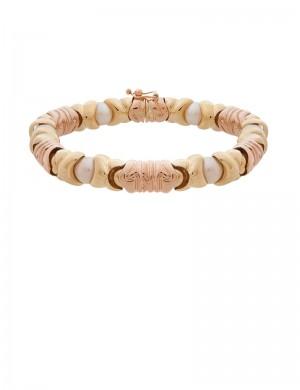 28.05 gram 18K Italian Gold Pearl Bracelet
