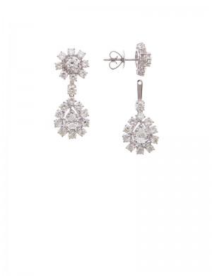 3.47ct Diamond 18K Gold Earrings