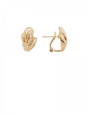 0.44ct Diamond 20K Gold Earrings