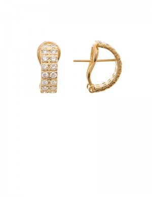 1.90ct Diamond 18K Gold Earrings