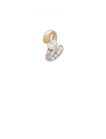 0.34ct Diamond 18K Gold Pendant
