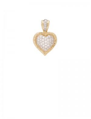0.28ct Diamond 18K Gold Heart Shaped Pendant