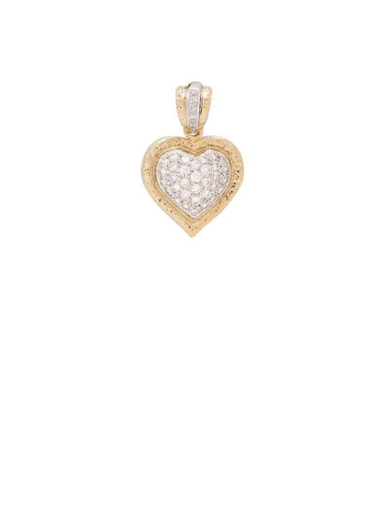 028ct diamond 18k gold heart shaped pendant online jewellery 028ct diamond 18k gold heart shaped pendant aloadofball Images