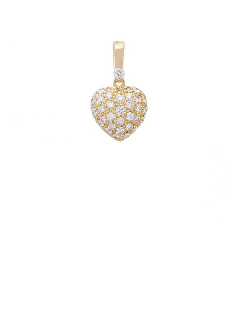 063ct diamond 18k gold heart shaped pendant online jewellery 063ct diamond 18k gold heart shaped pendant aloadofball Images