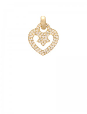 0.61ct Diamond 18K Yellow Gold Pendant